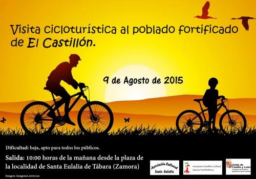 marcha cicloturística al poblado fortificado de el castillón, zamora
