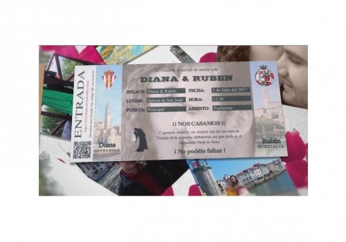 Diana y Rubén, la invitación de la boda